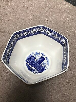 Ringtons Wade Bowl  Castles Blue And White Bowl