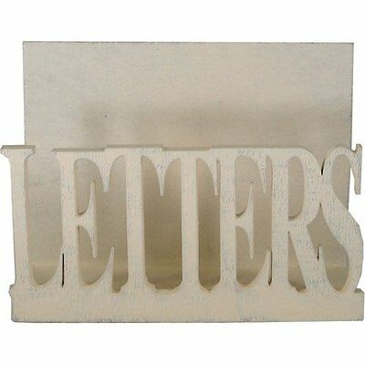 EAST OF INDIA Shabby Wooden Chic Letter ~ LETTERS ~ Post Rack