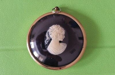 Vintage Pony Tailed Girl in Cameo - The Miniature World of Peter Bates