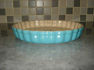 Le Creuset Fluted Flan Dish,Teal,NEW.