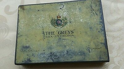 The Greys Silk Cut Virginia Cigarette Tin  Holds 50 Vintage 1940s