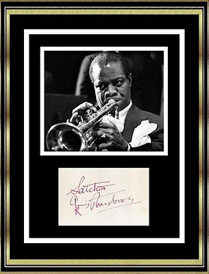 Louis Armstrong - Jazz Legend - Original Signed Autograph - Very Rare!!!