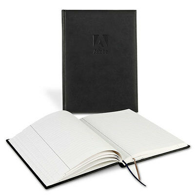 2 Adobe Logo Black Hardcover Bound Executive Notebook Leather Journal Book Leeds