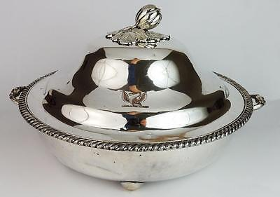 GEORGE III OLD SHEFFIELD PLATE SERVING / WARMING DISH c1820​ Blagden, Hodgson &