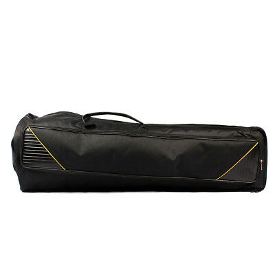 Durable Tenor Trombone Gig Bag Musical Instrument Case Accessory Black 91cm