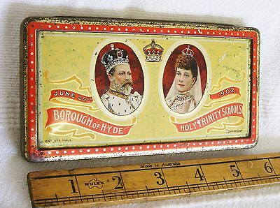 Rowntrees Tin - Coronation King Edward VII & Queen Alex. - Borough of HYDE Issue