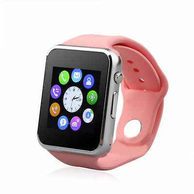 NEW 2017: Bluetooth-Smart-Watch Phone +Camera SIM Card For IOS/Android- PINK