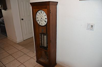 LANDIS  huge antique wall clock  Master Clock  (Pendulum style)