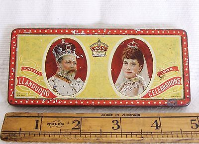 Rowntrees Tin - Coronation King Edward VII & Queen Alex. - LLANDUDNO Issue