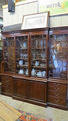 Wood and Hogan English Mahogany Breakfront China Cabinet Retail $30,000