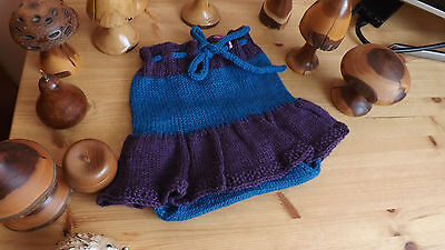 Handknitted Nappy Cover ~ Pure Wool Skirty Soaker ~ 12-18 months
