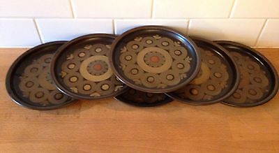 6 Denby Arabesque Samarkand Side Plates 6.5 Inches Retro Vintage