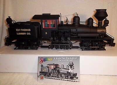 """Bachmann Spectrum Series G Scale Two Truck """"shay"""" Class Steam Locomotive,"""