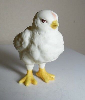 "Gorgeous Thin Porcelain Standing Chick Figurine Unsigned 3"" Tall"