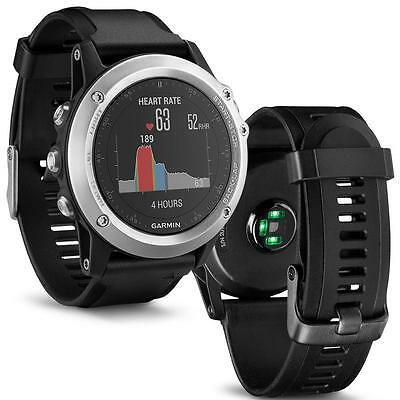 Boxed Garmin Fenix 3 HR GPS Watch. Wrist Based Heart Rate - Silver Edition