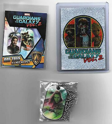 Marvel GUARDIANS OF THE GALAXY Vol. 2 GAMORA 3-D Dog Tag CHASE #2 (1:24 packs)