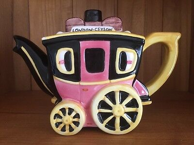 Novelty Tea Pot. Stagecoach. Collectable.