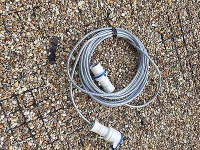 16A 230V / 240V Extension Lead Sy Cable Blue Plug And Socket