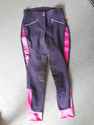 Hy Performance Ladies Navy and Pink Breeches size 30. *NEW*