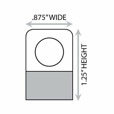 """1-1/4"""" X 7/8"""" Round Hole Adhesive Hang Tabs 1000/Pack"""