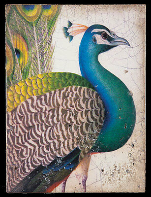 Sid Dickens Tile FABLED BIRD Peacock T-287 New Condition - $79 BIN!