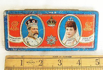 ROWNTREE'S Souvenir Coronation Tin - King Edward VII / 7th & Queen Alexandra