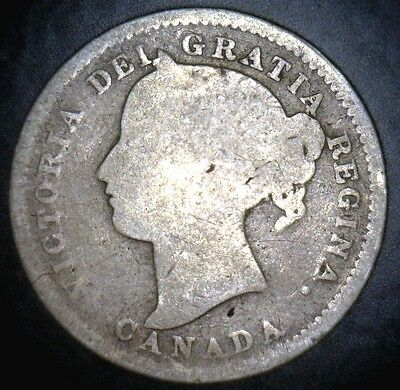 1896 Canada/Canadian Silver Dime, Ten/10 Cent Piece (C10-19)