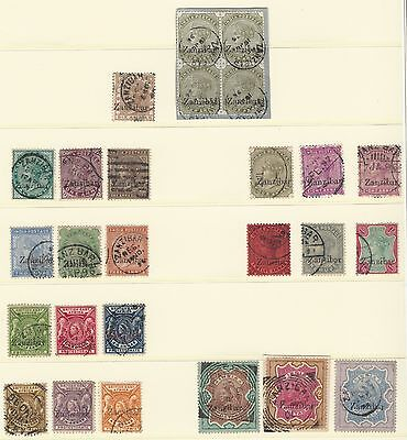 Overprinted Zanzibar on India and BEA Small Collection Used CV £1000+