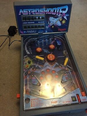 Vintage Tomy Astro Shooter Pinball Machine Working - All Legs - Great Condition
