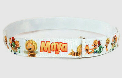 Maya Bee belt for toddlers, Handmade by Belt-issimo, hook and loop, d-ring belt