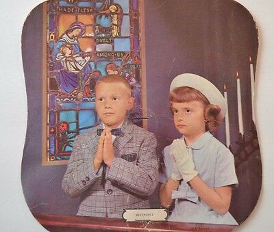 Vintage Church Fan | Advertising Fan with Children Praying