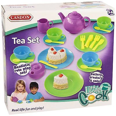 Tea Set Role Play Pretend Kids Childrens Toy Playset Fun Gift 32 Pieces