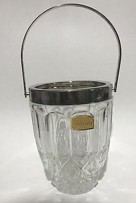 Vintage Lead Crystal Ice Bucket - Wine Chiller- Made In England