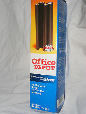 Office Depot Replacement Fax Ribbons for Sharp UX 300 & 460 Fax Machines 1 ROLL