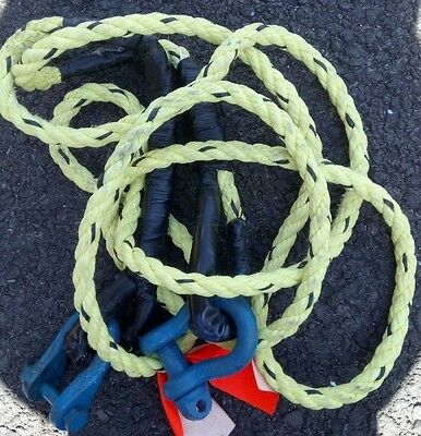 Heavy Duty Yellow Car Tow Rope with Heavy Duty Connectors