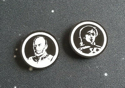 X-Wing Miniatures compatible, acrylic rebel reminder tokens x 2