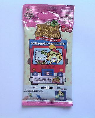 Animal Crossing Sanrio Welcome Amiibo Pack 6 Cards Complete Nintendo English NEW