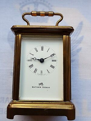 Matthew Norman Carriage Clock No. 1742 Miniature Brass Swiss Switzerland