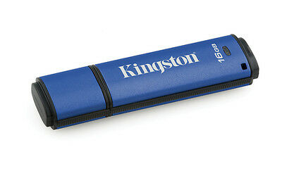 KINGSTON CLE 16GB DTVP30, 256bit AES Encryp Encrypted USB 3.0