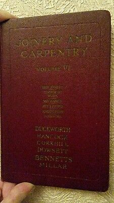 Rare Joiner & Carpentry Book Volume Vi