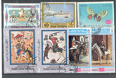 Yemen - Small Lot of used Stamps