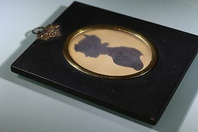Victorian Silhouette, Ebonised Frame, Silhouette Of Young Lady BEAUTIFUL Subject