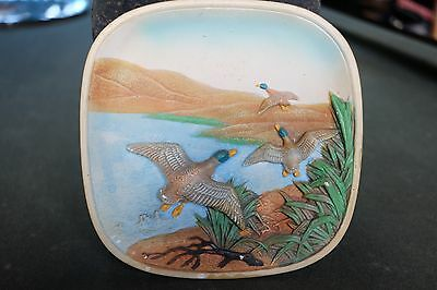 Vintage Plaster/Chalkware Wall Plate of Ducks - Legend Products