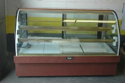 """Refrigerated Bakery Display Case Leader MCB77 - 77"""" Curved Glass"""