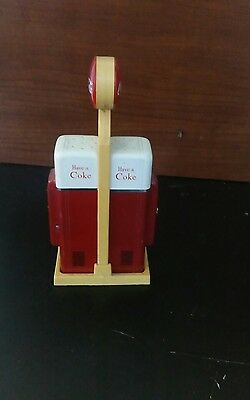 coca cola coke salt and pepper shakers gas pump style