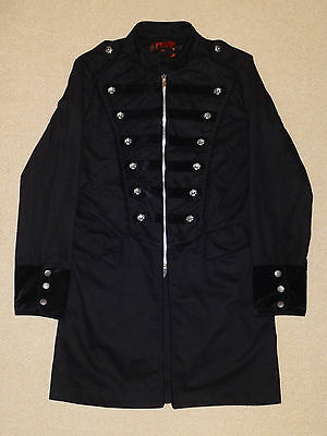 Slipknot Jim Root All Hope Is Gone Long Military Coat Jacket Black Gothic Tripp.