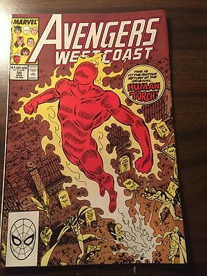 Avengers West Coast#50 Incredible Condition 9.0 Byrne Art(1989)