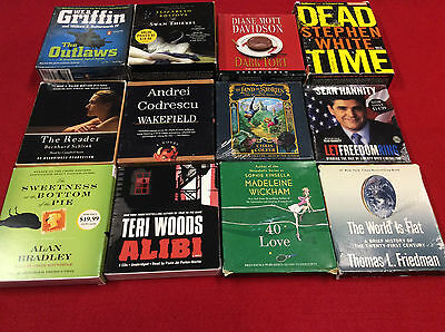 Lot of 12 Audio Books on CD - 3 New and Most Unabridged