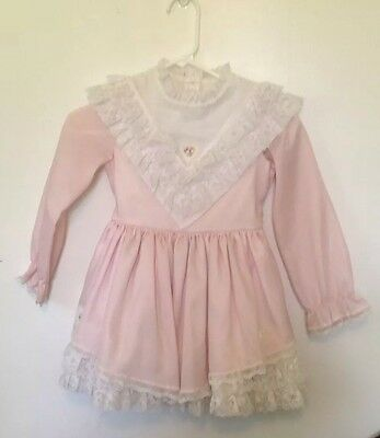 Vintage Pink Girls Party Dress
