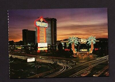 Postcard Las Vegas NV Seen From Barbary Coast Oasis Casino & Dunes Hotel *1982